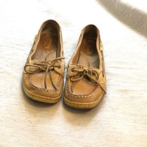 Tan Sperry Boatshoes